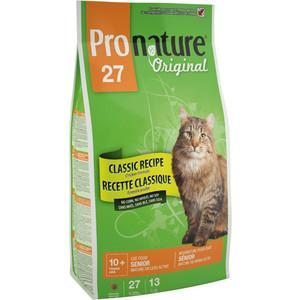 Сухой корм Pronature Original 27 Senior Cat Classic Recipe Chicken Formula с курицей для пожилых кошек старше 10 лет 5,44кг (102.402)