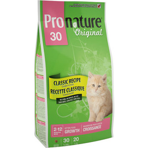 Сухой корм Pronature Original 30 Kitten Growth Classic Recipe Chicken Formula с курицей для котят 2,72кг (102.441)