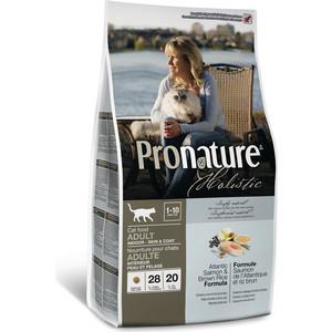 Сухой корм Pronature Holistic Adult Cat Skin&Coat Atlantic Salmon & Brown Rice с лососем и рисом для здоровья кожи и шерсти у кошек 5,44кг (102.2031) сухой корм pronature holistic adult cat skin