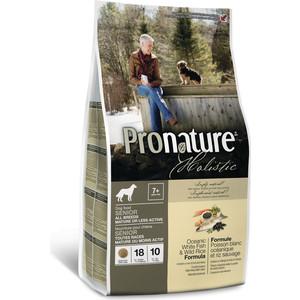 Сухой корм Pronature Holistic Senior Dog Oceanic White Fish & Wild Rice c океанической белой рыбой и диким рисом для пожилых собак 2,72кг (102.2008) сухой корм pronature holistic adult cat skin