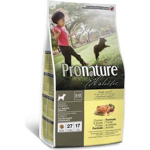 Сухой корм Pronature Holistic Puppy Growth Chicken & Sweet Potato Formula c курицей и сладким картофелем для щенков всех пород 2,72кг (102.2011) сухой корм pronature holistic adult cat skin