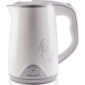 Чайник электрический GALAXY GL0301, белый чайник galaxy gl0301 2000 вт 1 5 л пластик белый рисунок