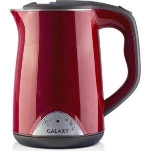 Чайник электрический GALAXY GL0301, красный чайник электрический galaxy gl0301 белый