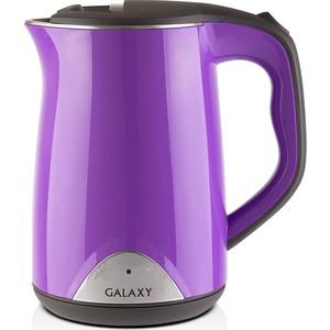 Чайник электрический GALAXY GL0301, фиолетовый чайник galaxy gl0301 2000 вт 1 5 л пластик белый рисунок