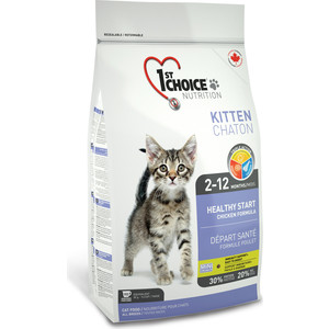 Сухой корм 1-ST CHOICE Kitten Healthy Start Chicken Formula с курицей для котят 907г (102.1.201)