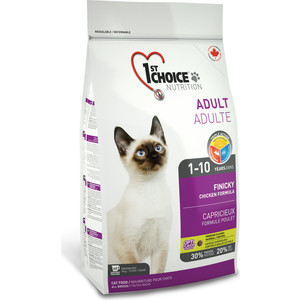 Сухой корм 1-ST CHOICE Adult Cat Finicky Chicken Formula с курицей для кошек привередливых к еде 5,44кг (102.1.232) zorssar 2017 new winter ladies shoes fashion real leather women ankle boots high heels platform womens martin boots size 33 43