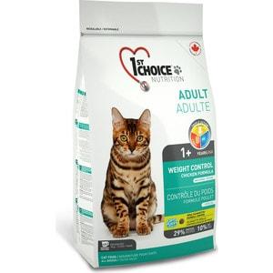 Сухой корм 1-ST CHOICE Neutered Cat Weight Control Chicken Formula с курицей контроль веса для стерилизованных кошек 2,72кг (102.1