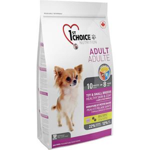 Сухой корм 1-ST CHOICE Adult Dog Toy & Small Healthy Skin & Coat Lamb&Fish с ягненком и рыбой для кожи и шерсти для собак мелких пород 2,72кг(102.3011)