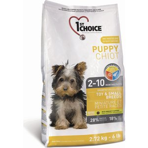 Сухой корм 1-ST CHOICE Puppy Growth Toy & Small Breeds Chicken с курицей для щенков мелких пород с 2 до 10 месяцев 2,72кг (102.302)