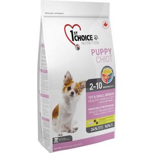Сухой корм 1-ST CHOICE Puppy Toy & Small Healthy Skin & Coat Lamb&Fish с ягненком и рыбой для кожи и шерсти для щенков мелких пород