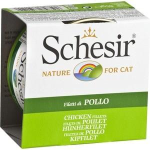 Консервы Schesir Nature for Cat Chicken Fillets кусочки в желе с куриным филе для кошек 85г (С160)