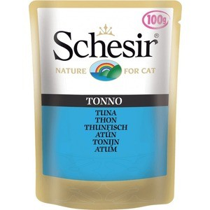 Паучи Schesir Nature for Cat Tuna кусочки в желе с тунцом для кошек 100г (С560) конcервы schesir для кошек с тунцом 50 г 6 шт