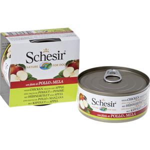 Консервы Schesir Nature for Dog Chicken Fillets & Apple кусочки в желе с куриным филе и яблоком для собак 150г (С372) schesir с тунцом и куриным филе