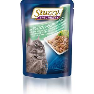 Паучи Stuzzy Cat Speciality with Chiken & Ham кусочки в соусе с курицей и ветчиной для кошек 100г (131.2504) 10pcs mst3367cmk lf 170 qfp new