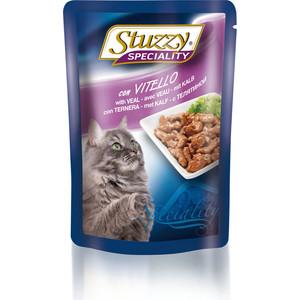 Паучи Stuzzy Cat Speciality with Veal кусочки в соусе с телятиной для кошек 100г (131.2506) prevital консервированный корм для кошек prevital classic 100 гр в соусе с телятиной