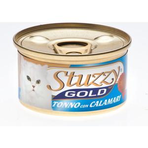 Консервы Stuzzy Cat Gold Tuna & Squid кусочки в собственном соку с тунцом и кальмарами для кошек 85г (132.С400) тунeц fortuna кусочки в собственном соку