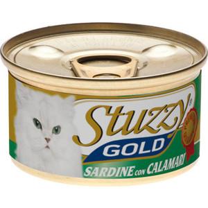 Консервы Stuzzy Cat Gold Sardines & Squid кусочки в собственном соку с сардинами и кальмарами для кошек 85г (132.С401) тунeц fortuna кусочки в собственном соку