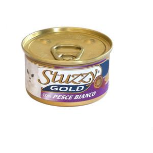 Консервы Stuzzy Cat Gold Mousse with White Fish мусс с белой рыбой для кошек 85г (132.С419) консервы lechat cat mousse with beef and liver мусс для кошек 85г