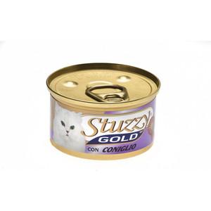 Консервы Stuzzy Cat Gold Mousse with Rabbit мусс с кроликом для кошек 85г (132.С422) консервы lechat cat mousse with beef and liver мусс для кошек 85г