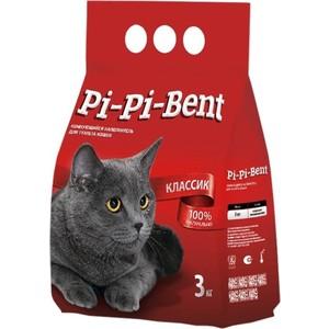 Наполнитель Pi-Pi-Bent Classic комкующийся для кошек 3кг минеральный комкующийся наполнитель pi pi bent classic полиэтиленовый пакет для кошек 3кг