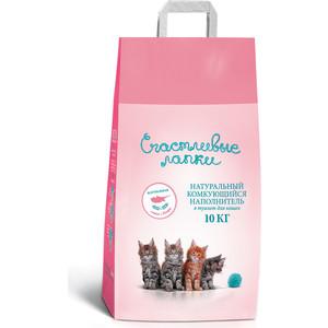 цена на Наполнитель Счастливые Лапки комкующийся для кошек 10кг