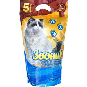 цена на Наполнитель Зооник комкующийся для кошек 5л (06226)