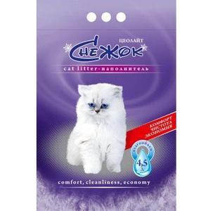 Наполнитель Снежок Цеолайт впитывающий силикагель для кошек 4л