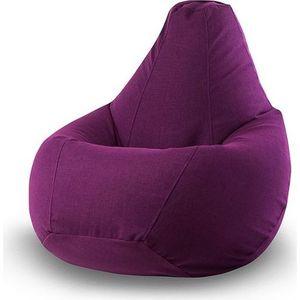 Кресло-мешок POOFF Фиолетовое микровельвет XL van poof кресло мешок old school xl