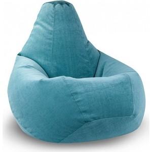Кресло-мешок POOFF Голубое микровельвет XL