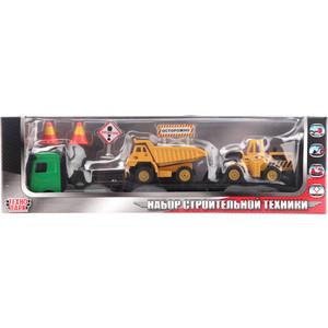 Технопарк Набор металлический троительная техника 1/43 с аксессуарами (773107)