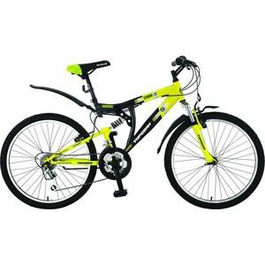 Top Gear Велосипед 24 Storm 120, 18 скоростей, черный/жёлтый (ВН24015) велосипед larsen super team 24 колеса 24 скоростей 6 черный
