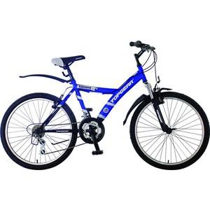 Top Gear Велосипед 24 Unlimited 110, 18 скоростей, синий/черный (ВН24056) велосипед larsen super team 24 колеса 24 скоростей 6 черный