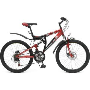 Top Gear Велосипед 24 Storm 225, 18 скоростей, черный/красный (ВН24081)