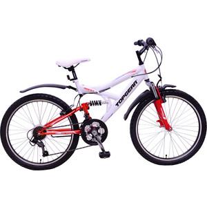 Top Gear Велосипед 24 4REST 220, 18 скоростей, белый/рыжий/синий (ВН24132) top gear велосипед 24 mystic 210 18 скоростей черный вн24087