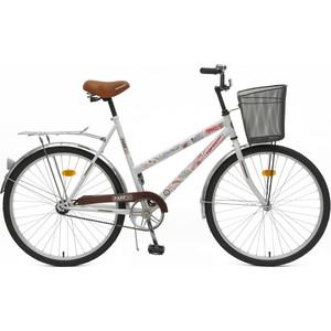 Top Gear Велосипед 26 Park 50, 1 скоростей белый/коричневый, стальная корзина, звонок (ВН26245К)