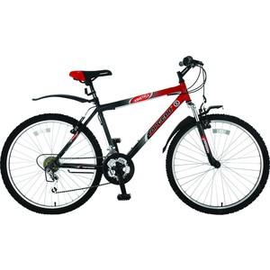 Top Gear Велосипед 26 Kinetic 110, 18 скоростей, черный/красный (ВН26248) велосипед challenger mission lux fs 26 черно красный 16