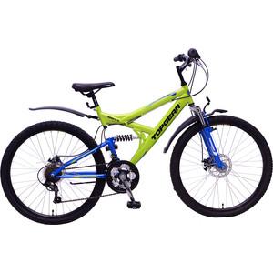 Top Gear Велосипед 26 4REST 225, 18 скоростей, желтый/синий (ВН26425) vtronhye flower