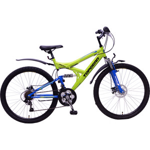 цена на Top Gear Велосипед 26 4REST 225, 18 скоростей, желтый/синий (ВН26425)
