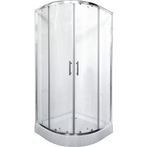 Душевой уголок Rush Corsica 90x90 см профиль хром, стекло прозрачное (CO-R29090)