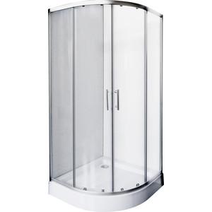 Душевой уголок Rush Crete 90x90 см профиль хром матовый, стекло прозрачное (CR-R29090matt)