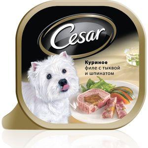 Консервы Cesar куриное филе с тыквой и шпинатом для собак мелких пород 100г (10083321)
