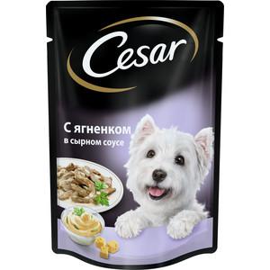 Паучи Cesar аппетитные блюда с ягненком в сырном соусе 100г для собак всех пород (10156796)
