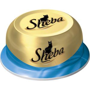 Консервы Sheba сочный тунец в нежном соусе для кошек 80г (10116244)