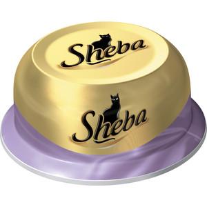 Консервы Sheba коктейль с тунцом и отборными креветками для кошек 80г (10116246)