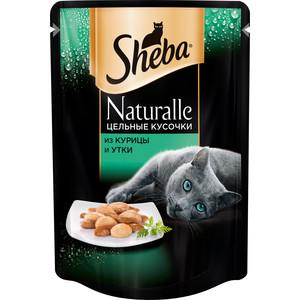 Паучи Sheba Naturalle кусочки с курицей и уткой для кошек 80г (10157753)