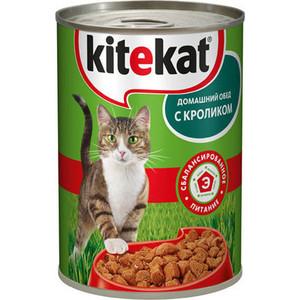Консервы Kitekat Домашний обед с кроликом для кошек 410г (VW285)