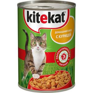Консервы Kitekat Домашний обед с курицей для кошек 410г (VW298)