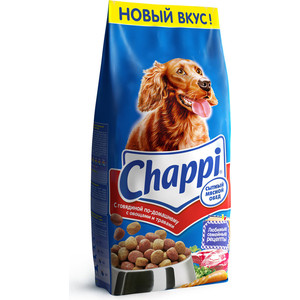 Сухой корм Chappi Сытный обед с говядиной по-домашнему, овощами и травами для собак 15кг (YY065)