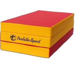 Мат PERFETTO SPORT № 4 (100 х 150 х 10) складной красно/жёлтый мат perfetto sport мат 2 100 х 100 х 10 бежевый ps