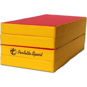 Фотография товара мат PERFETTO SPORT № 5 (100 х 200 х 10) складной 3 сложения красно/жёлтый (617753)